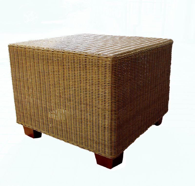 Ratanový stolek TOSCA 60x60 světlý med