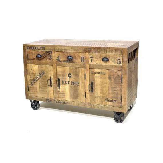 Dřevěná komoda hnědá