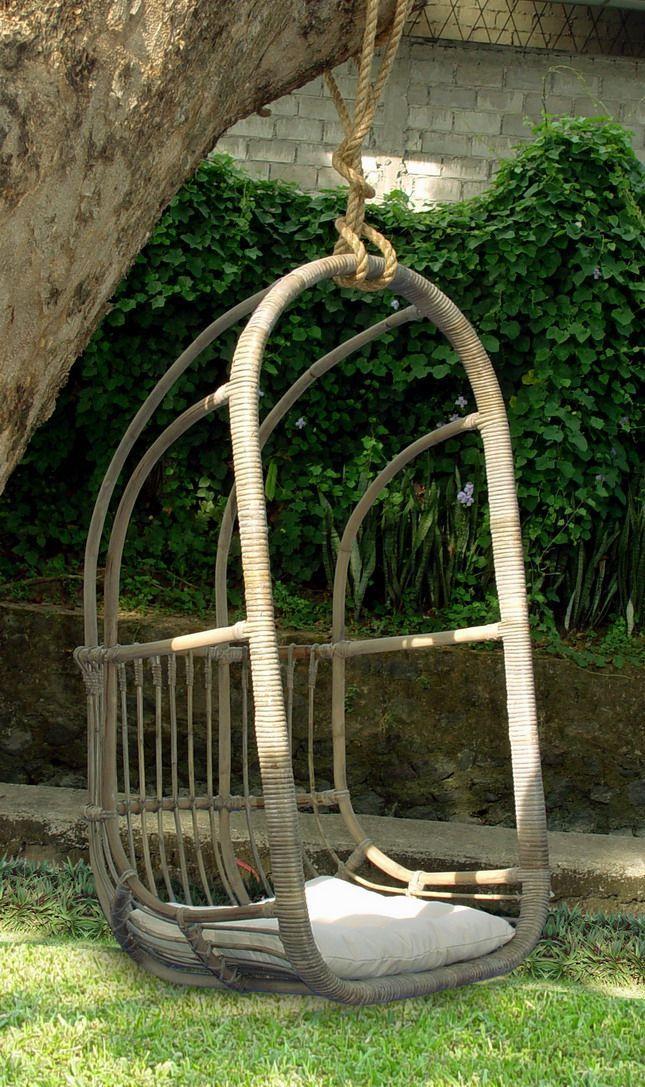 Ratanová houpačka HANGSTOEL  s polstrem