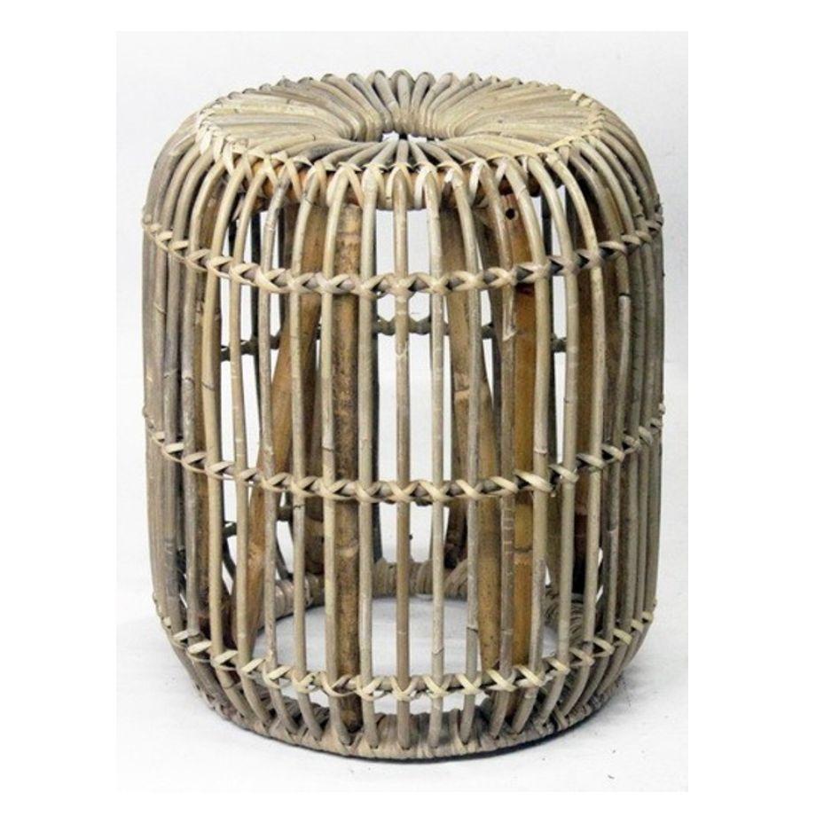 Ratanový stolek JAWIT kulatý