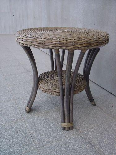 Ratanový stolek BLANKA KUBU grey