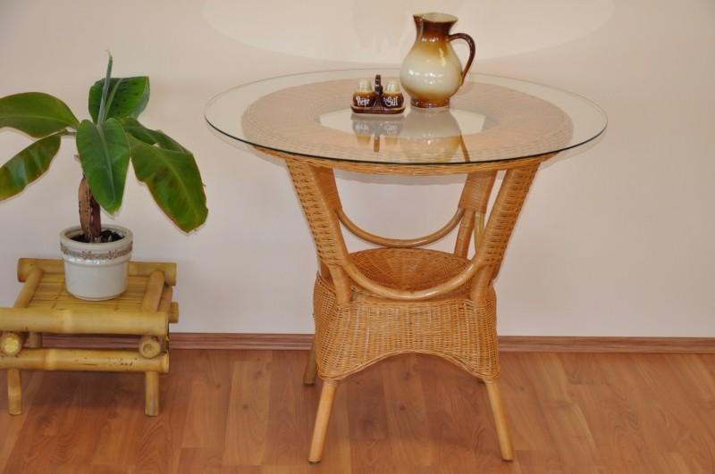 Ratanový jídelní stůl WANUTA medový