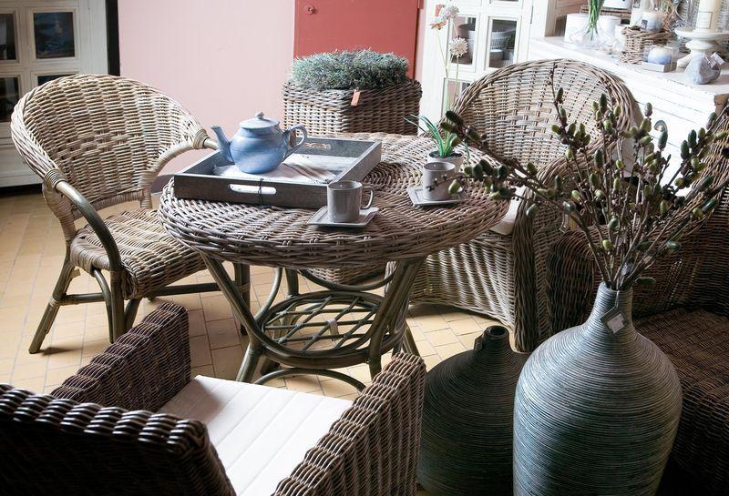 Ratanový stůl EXOTICA grey