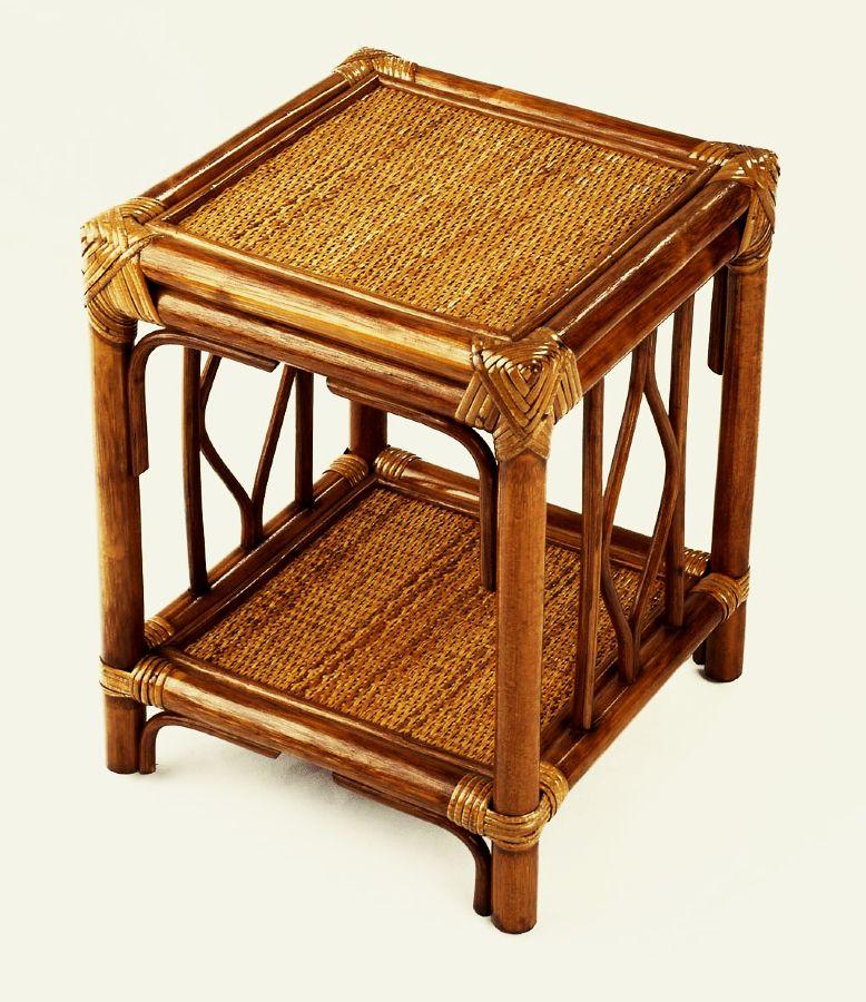 Ratanový stolek BRUMBUNG tmavý med