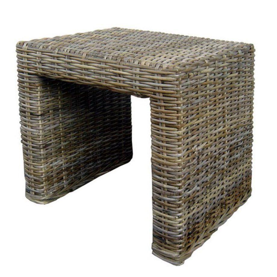 Ratanový stolek PANDORA kubu grey 60x60cm