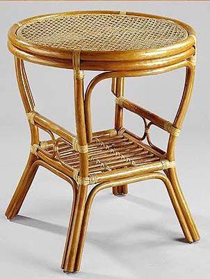 Ratanový stolek PELANGI  KULATÝ DH výplet