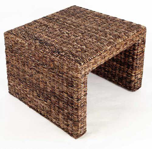 Ratanový stolek PANDORA banán 40x46cm