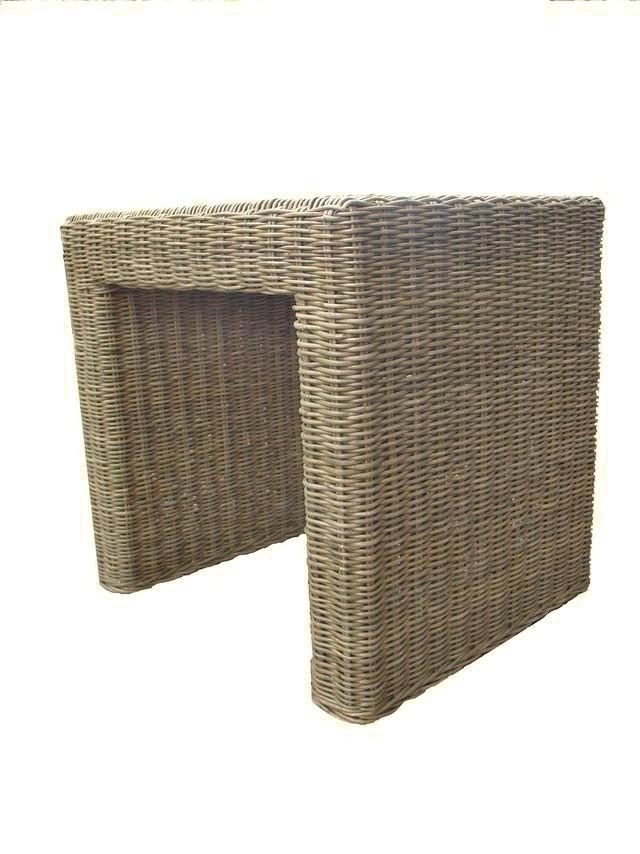 Ratanový stolek PANDORA slimit grey 40x46cm