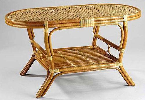 Ratanový stolek PELANGI ovál výplet