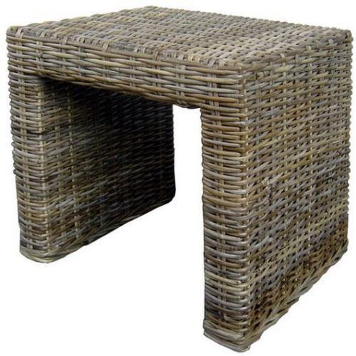 Ratanový stolek PANDORA kubu grey 80x80cm