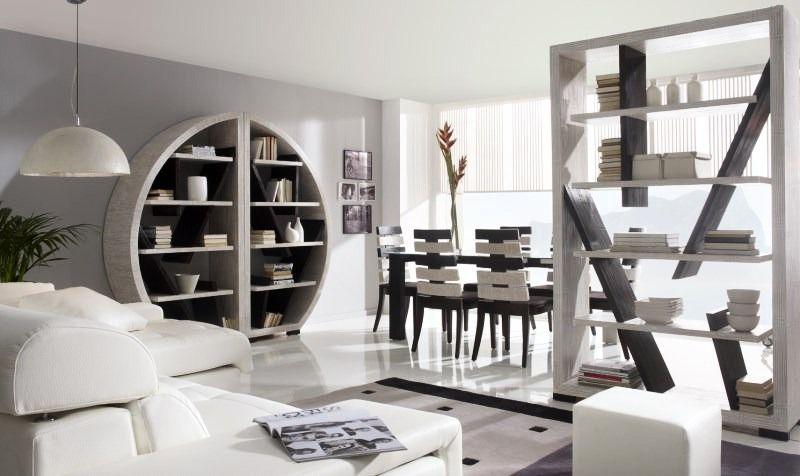 Bambusová knihovna ROUND