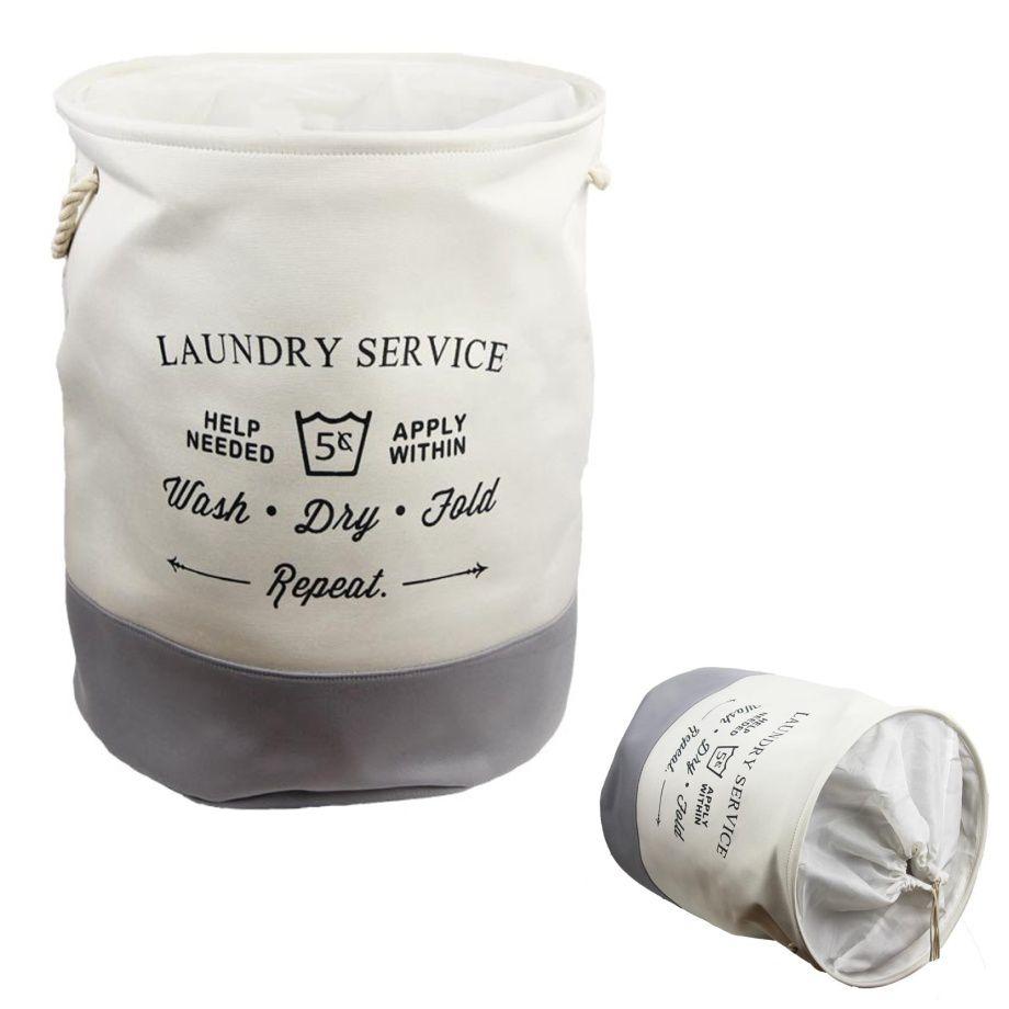 Prádelní koš LAUNDRY textilní