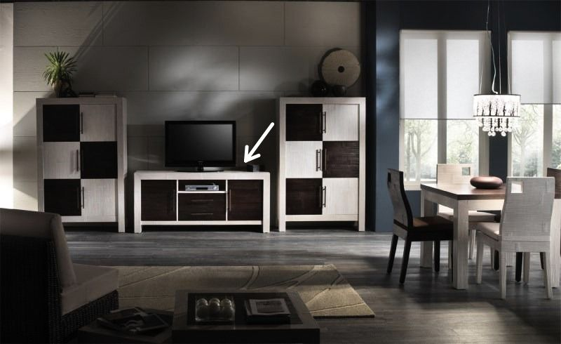 Bambusový TV kabinet ESSENTIAL