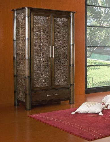 Bambusová šatní skříň TIFA