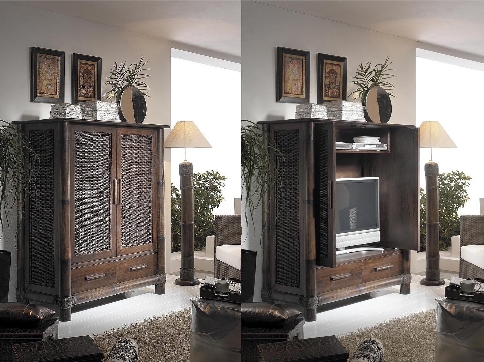 TV skříň TROPICANA bambus/dřevo