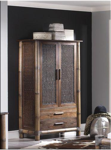 Bambusová šatní skříň TROPICANA