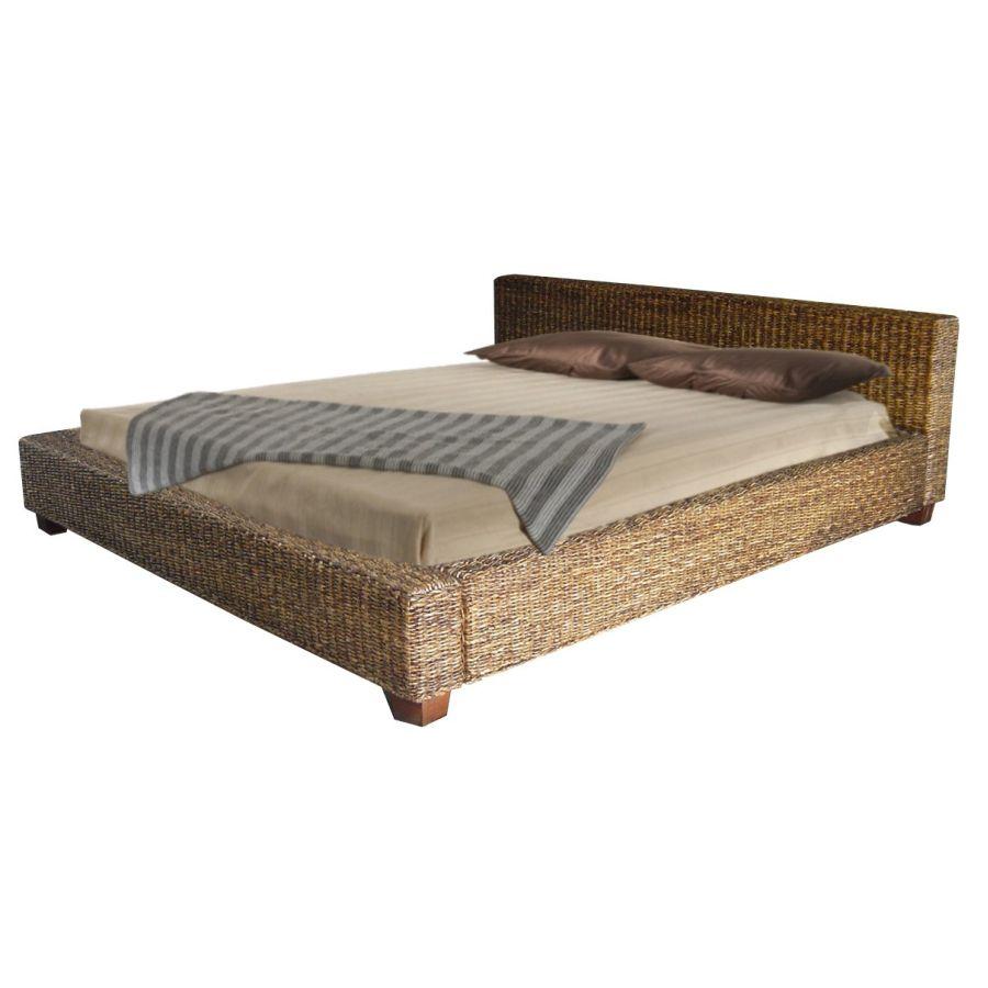 Ratanová postel DIMA 180 banán