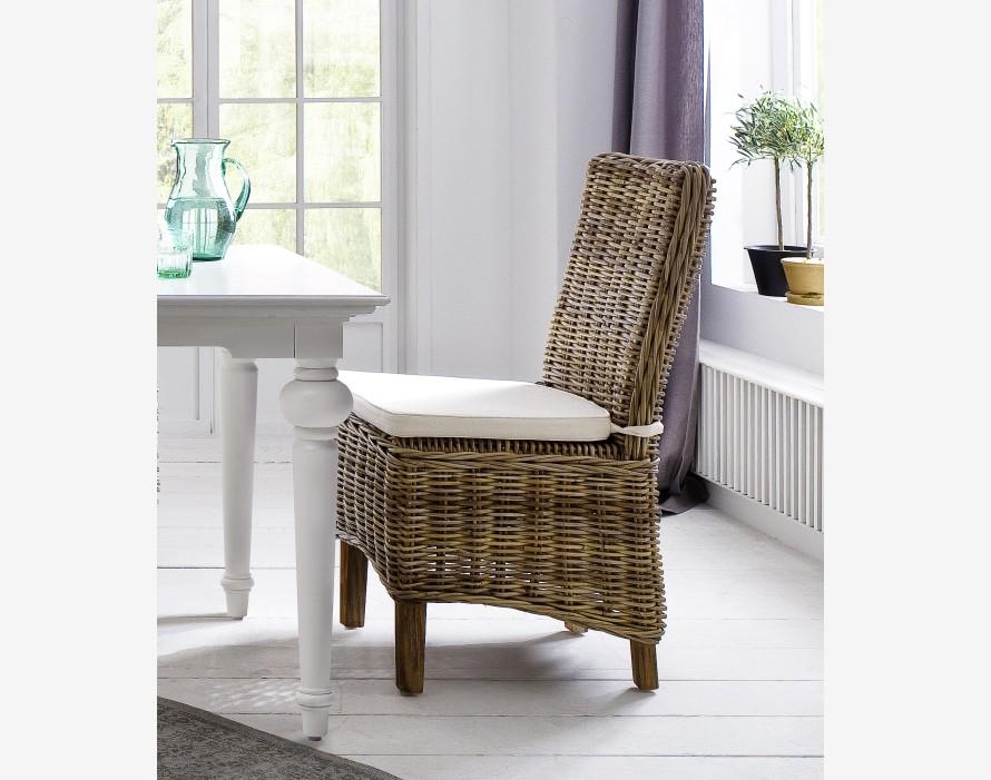 Ratanová židle PARIS kubu grey