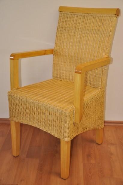 Ratanová židle LARISSA s područkou