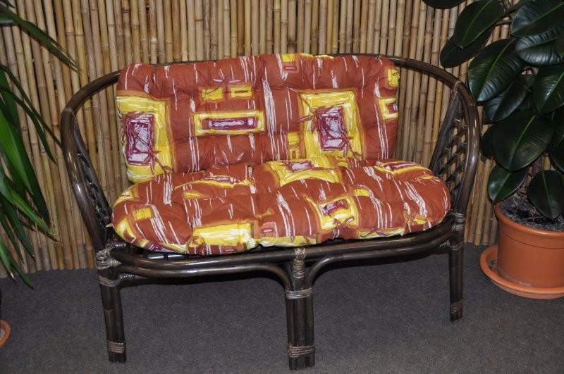 Ratanová lavice BAHAMA CZ hnědá