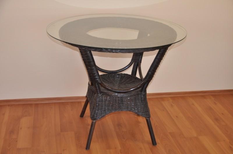 Ratanový jídelní stůl WANUTA hnědý