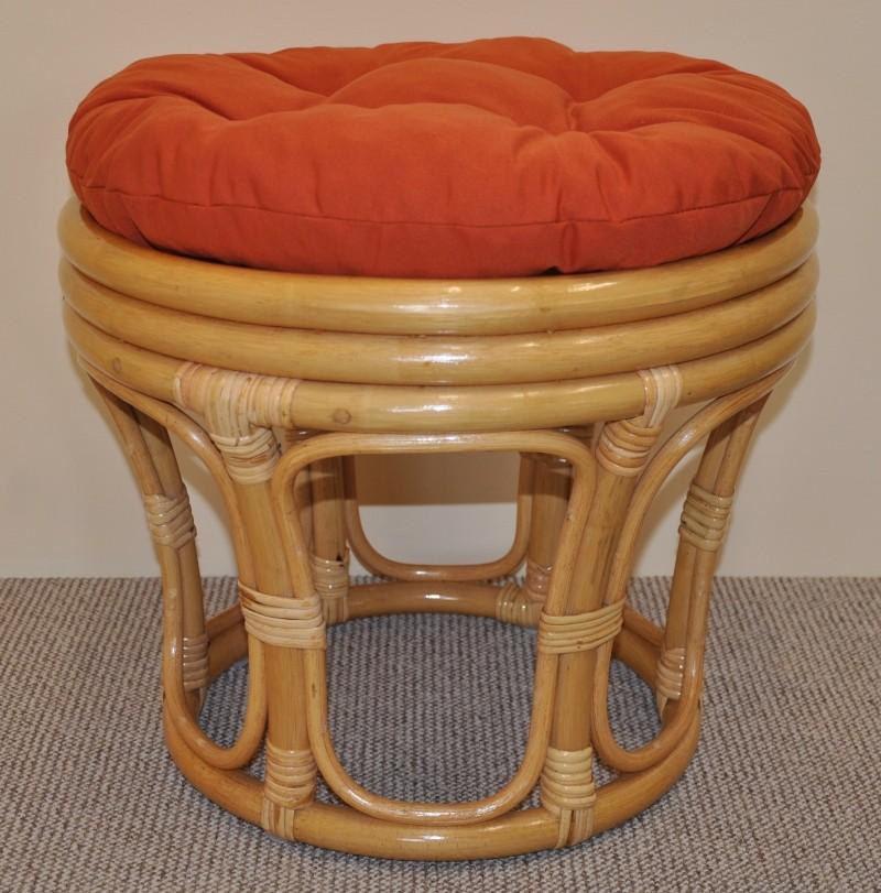 Ratanová taburetka VELKÁ medová