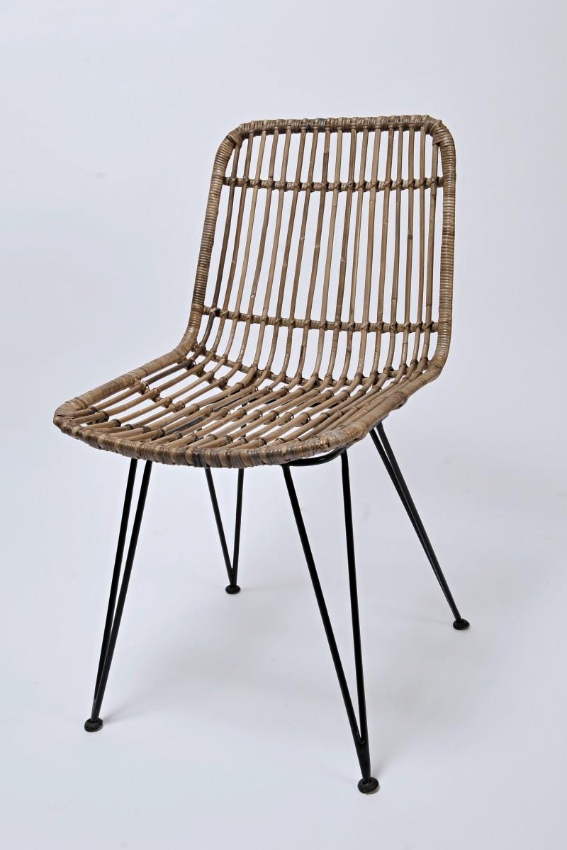 Ratanová židle CHARLOTE kubu grey