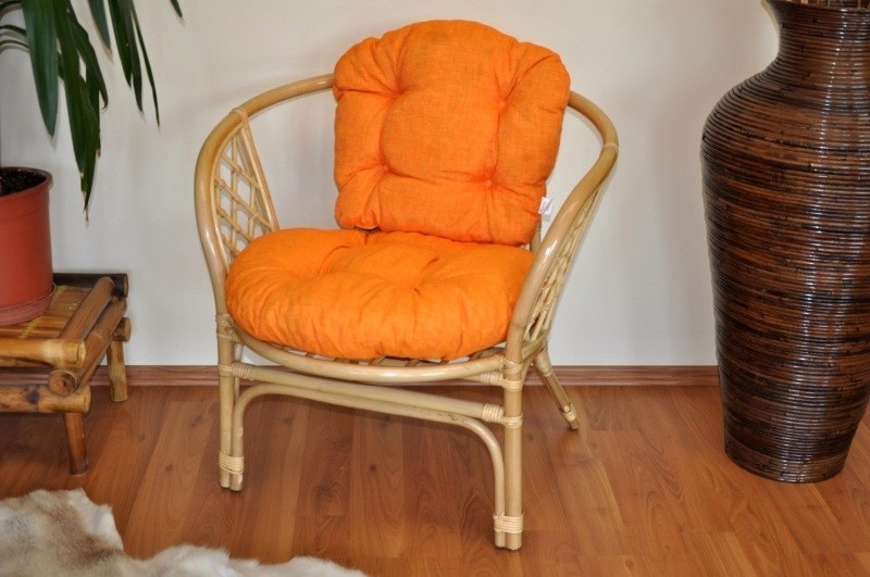 Polstr na křeslo BAHAMA oranžový melír