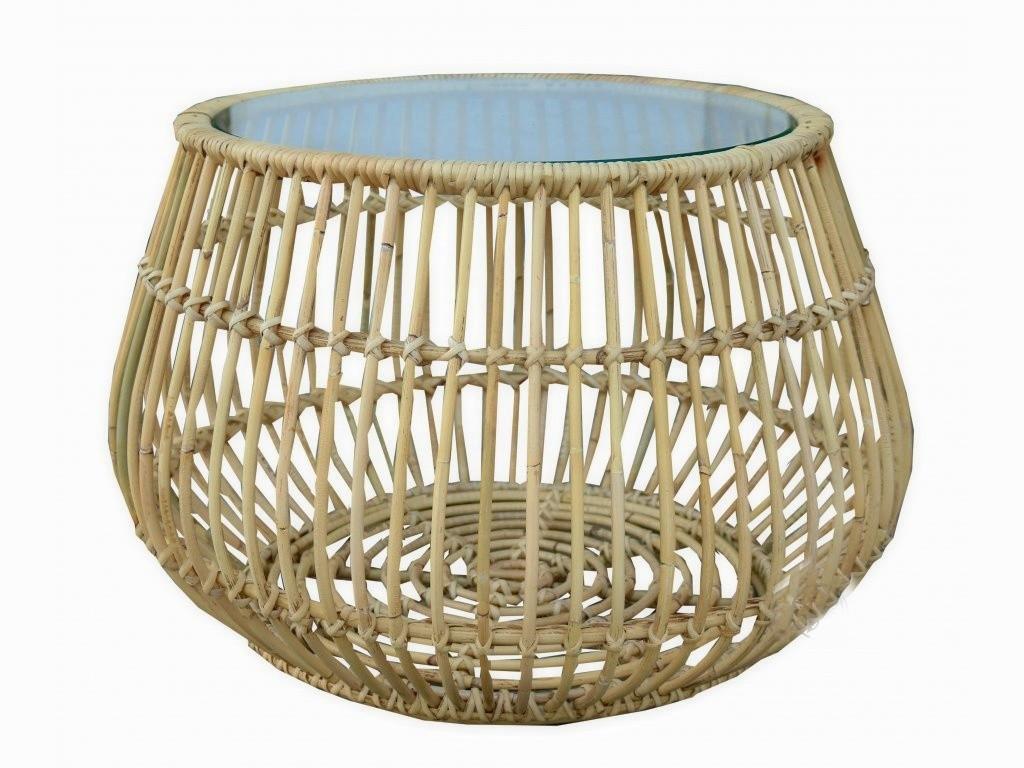 Ratanový stolek JAWIT BIG natur