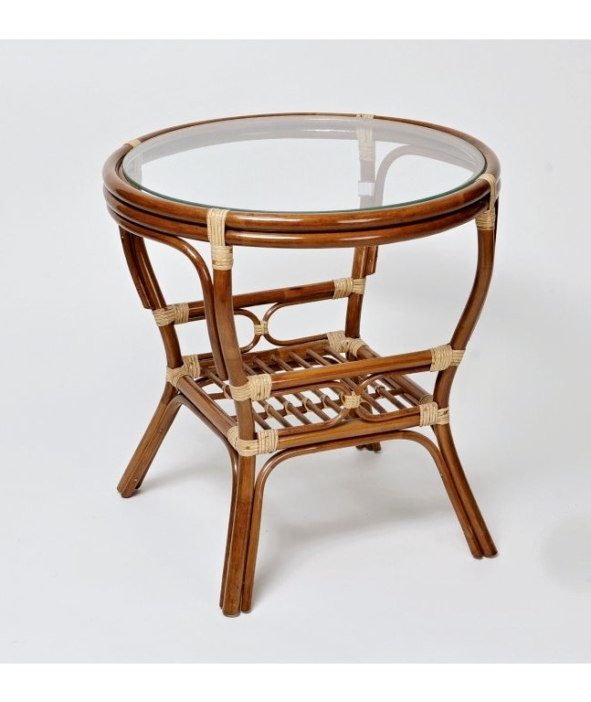 Ratanový stolek PELANGI kulatý výplet TM