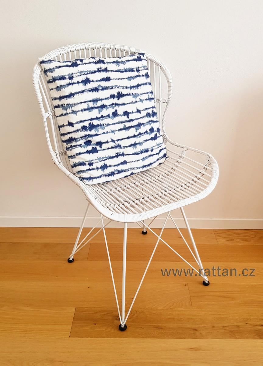 Ratanová židle ARLES bílá