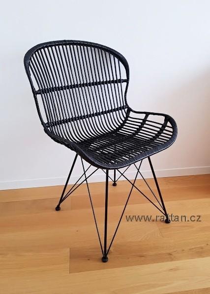 Ratanová židle ARLES černá