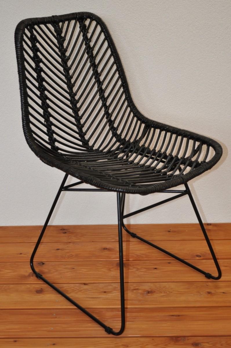 Ratanová židle MARSEILE černá