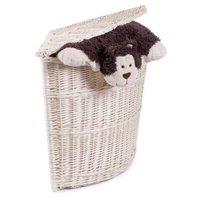 Proutěný koš na prádlo rohový LUCY M