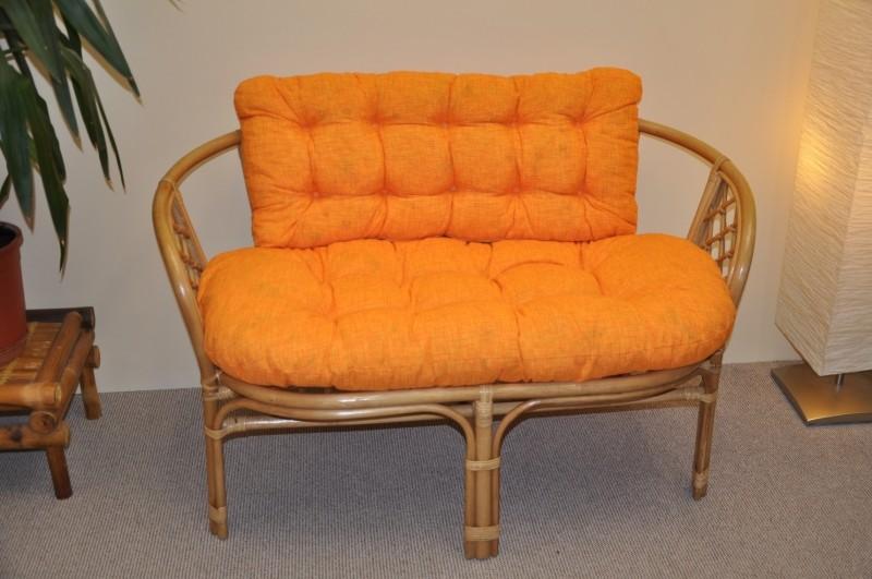 Polstr na lavici BAHAMA oranžový melír