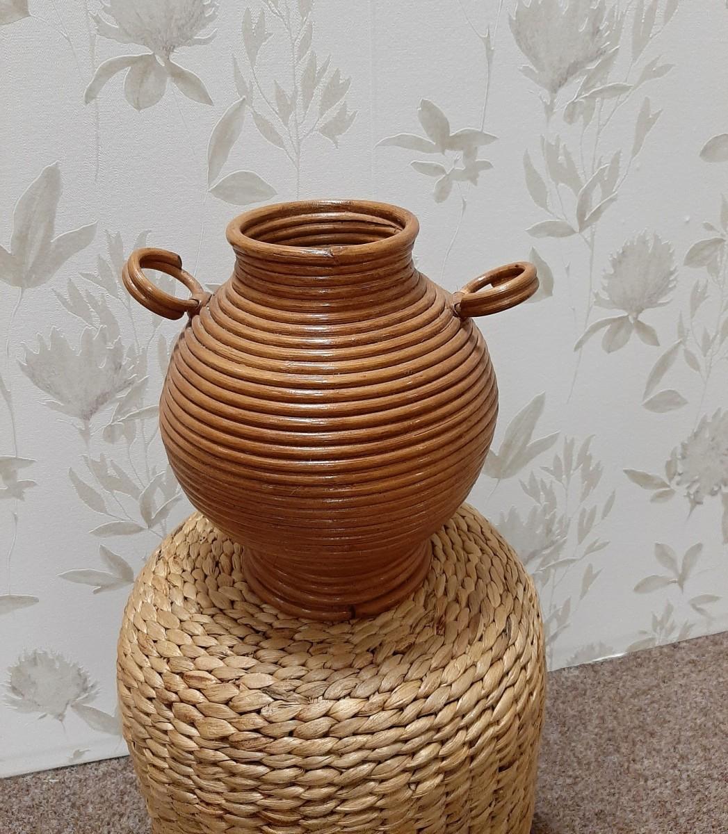 Ratanová váza DET medová