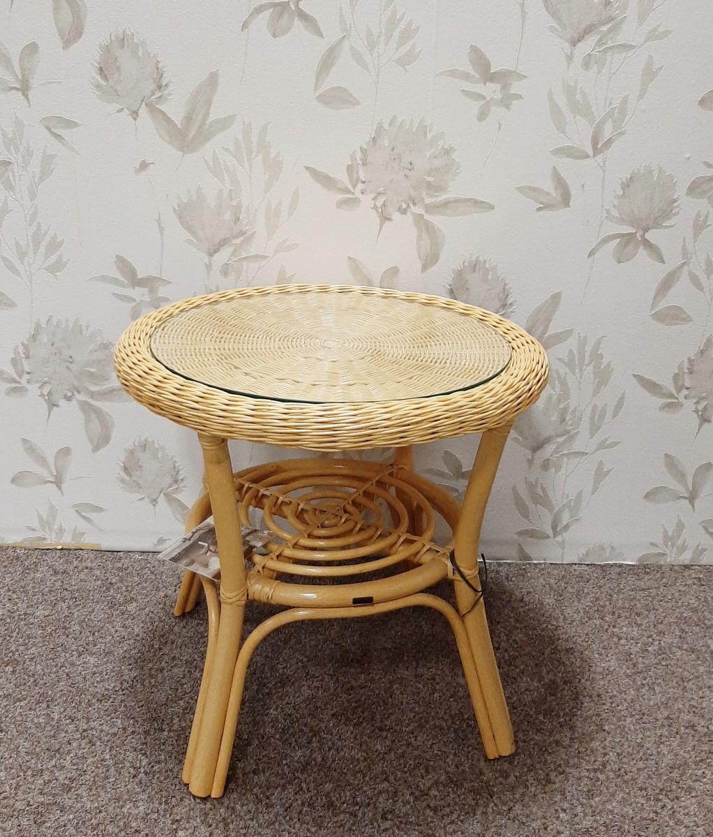 Ratanový stolek CALAMUS med