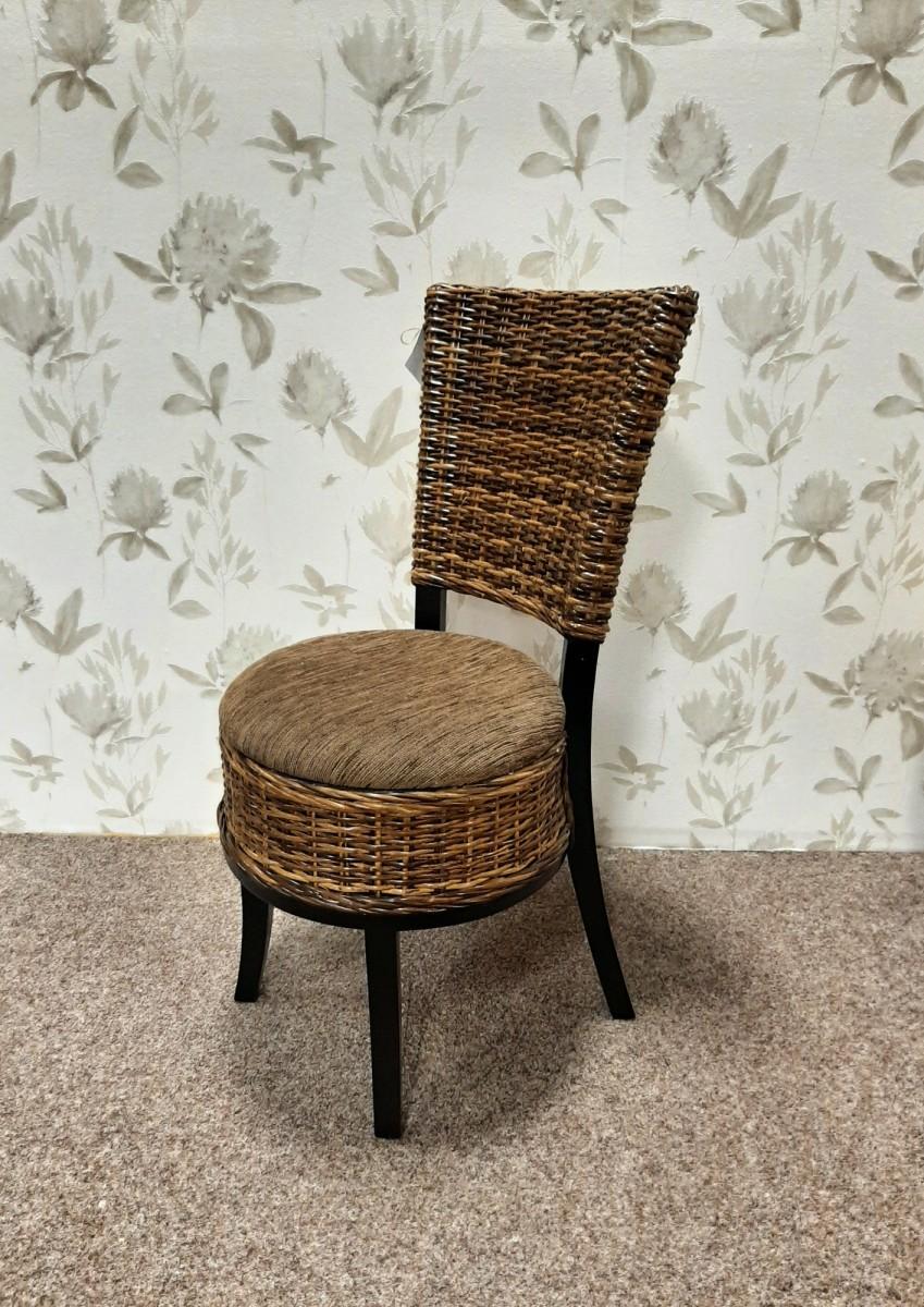 Ratanová židle DRUM sarang s polstrem