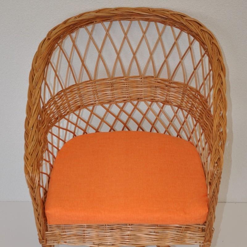Polstr na křeslo SAN oranžový melír